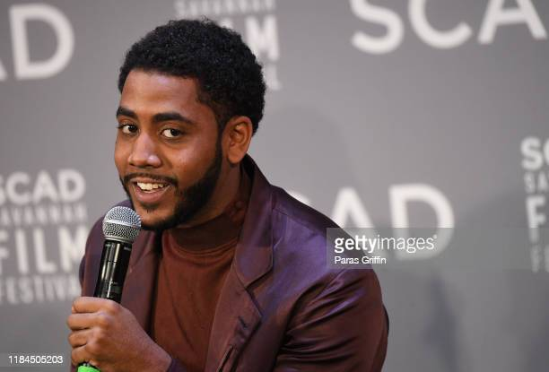 Jharrel Jerome speaks onstage during the Breakout Awards panel at the 22nd SCAD Savannah Film Festival on October 30, 2019 at Gutstein Gallery in...