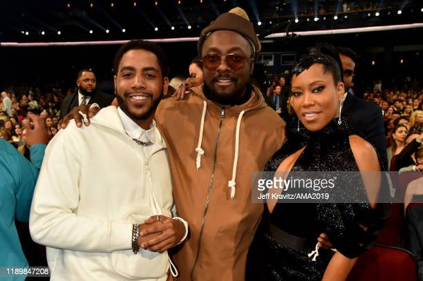 Jharrel Jerome william and Regina King attend the 2019 American Music Awards at Microsoft Theater on November 24 2019 in Los Angeles California
