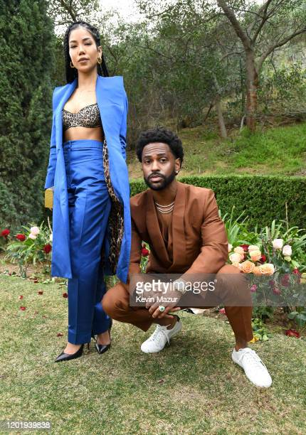 Jhené Aiko and Big Sean attend 2020 Roc Nation THE BRUNCH on January 25 2020 in Los Angeles California