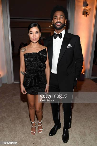 Jhené Aiko and Big Sean attend Sean Combs 50th Birthday Bash presented by Ciroc Vodka on December 14, 2019 in Los Angeles, California.