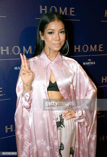 Jhené Aiko at HOME by Martell hosted by Jhene Aiko on September 28 2017 in Los Angeles California