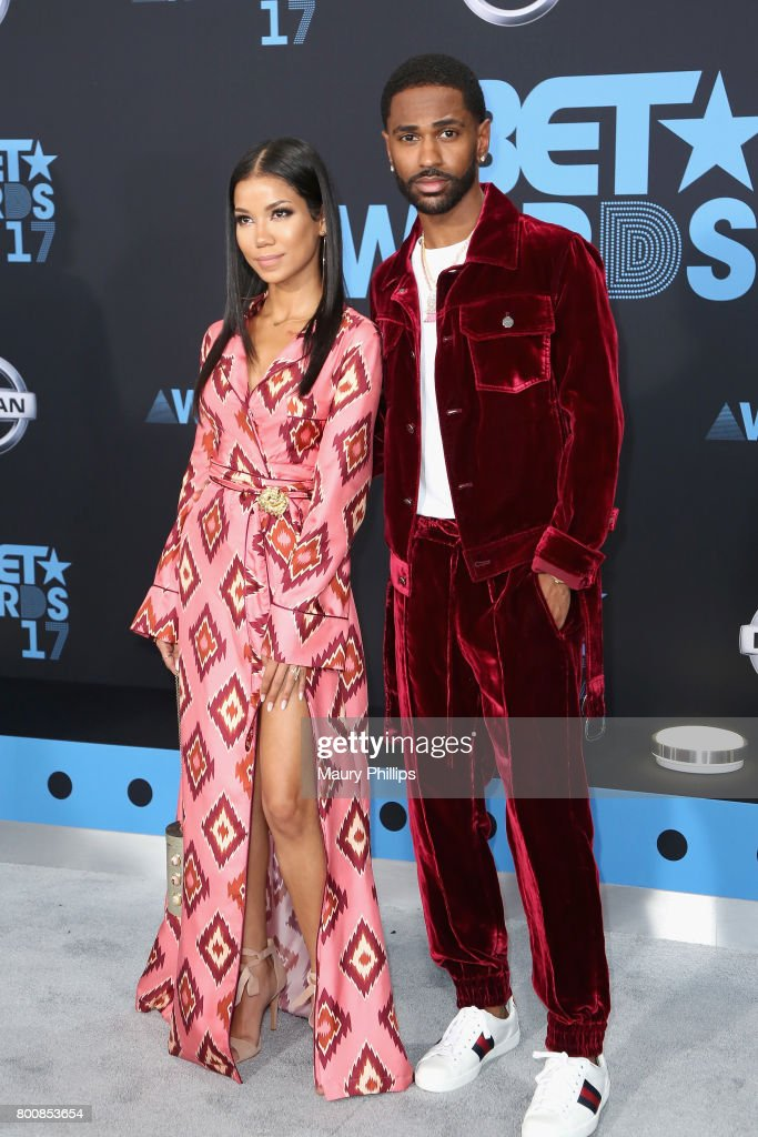 Jhene Aiko and Big Sean at the 2017 BET Awards at Microsoft Square on June 25, 2017 in Los Angeles, California.