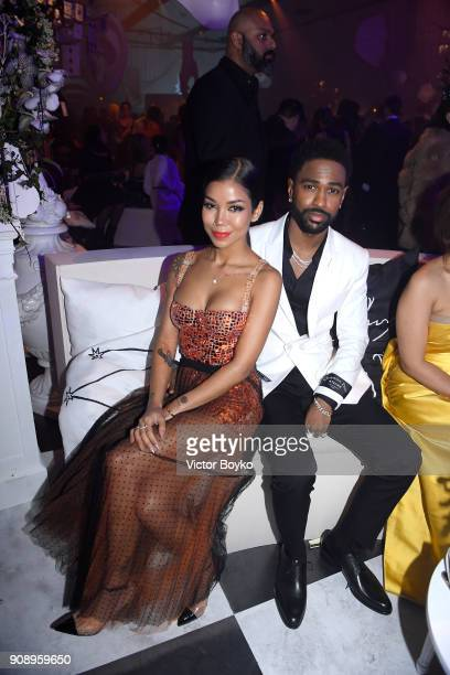 Jhene Aiko and Big Sean attend Le Bal Surrealiste Dior during Haute Couture Spring Summer 2018 show as part of Paris Fashion Week on January 22 2018...