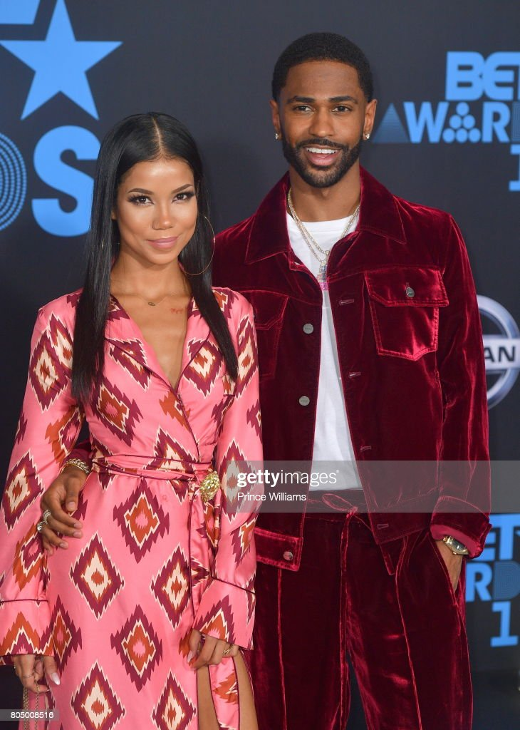 Jhene Aiko and Big Sean attend the 2017 BET Awards at Microsoft Theater on June 25, 2017 in Los Angeles, California.