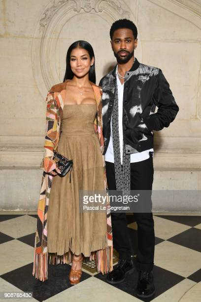 Jhene Aiko and Big Sean attend the Christian Dior Haute Couture Spring Summer 2018 show as part of Paris Fashion Week on January 22 2018 in Paris...