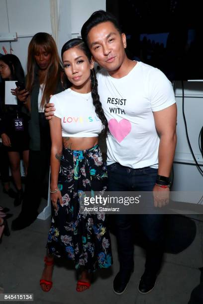 Jhene Aiko and designer Prabal Gurung backstage for Prabal Gurung fashion show during New York Fashion Week The Shows at Gallery 2 Skylight Clarkson...