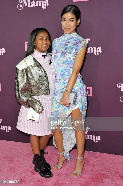 Jhene Aiko and Namiko Love Browner attend VH1's 3rd Annual Dear Mama A Love Letter To Moms at The Theatre at Ace Hotel on May 3 2018 in Los Angeles...