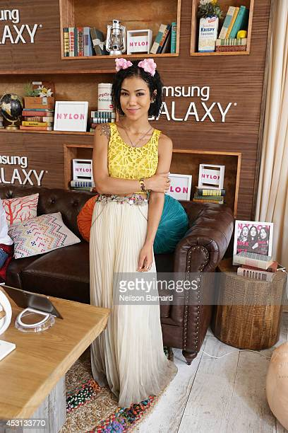 Jhene Aiko at the Samsung Galaxy Artist Lounge at Lollapalooza at Grant Park on August 3 2014 in Chicago Illinois