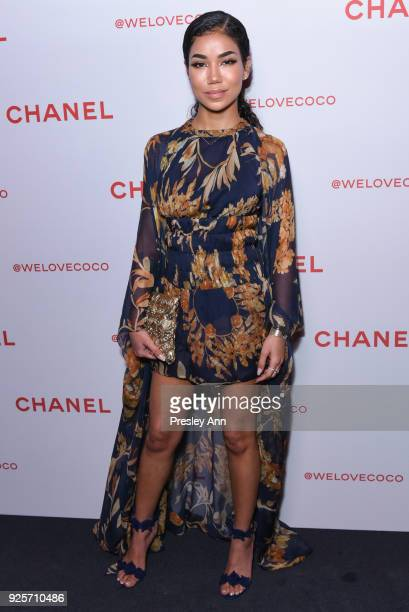 Jhene Aiko attends Chanel Party to Celebrate the Chanel Beauty House and @WELOVECOCO on February 28 2018 in Los Angeles California