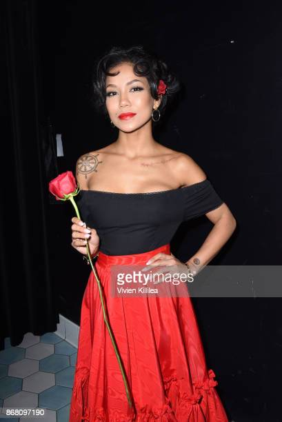 Jhene Aiko attends Ciroc Kicks Off Halloween with Lenny S Kelly Rowland's Costume Couture at Poppy on October 29 2017 in Los Angeles California