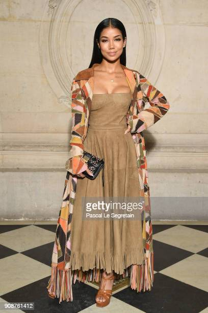 Jhene Aiko attends the Christian Dior Haute Couture Spring Summer 2018 show as part of Paris Fashion Week on January 22 2018 in Paris France