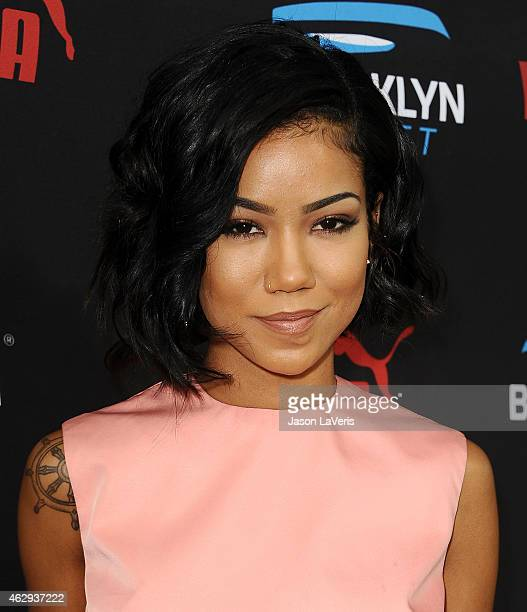 Jhene Aiko attends the Roc Nation Grammy brunch on February 7 2015 in Beverly Hills California