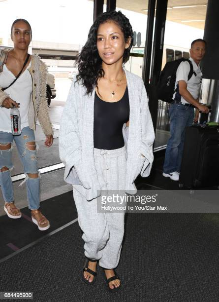 Jhene Aiko is seen on May 17 2017 in Los Angeles CA
