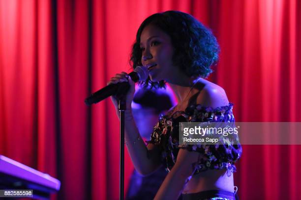 Jhene Aiko performs at The Drop Jhene Aiko at the GRAMMY Museum on November 29 2017 in Los Angeles California
