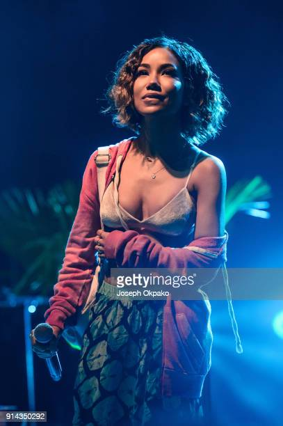 Jhene Aiko performs live on stage at KOKO on February 4 2018 in London England