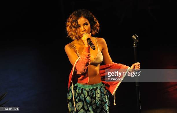 Jhene Aiko performs on stage at KOKO on February 4 2018 in London England