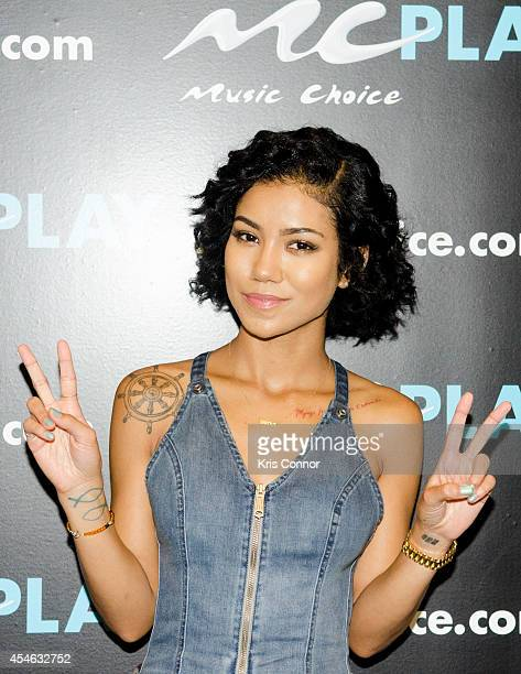 Jhene Aiko poses for a portrait before being interviewed on Music Choice's You A at Music Choice on September 4 2014 in New York City