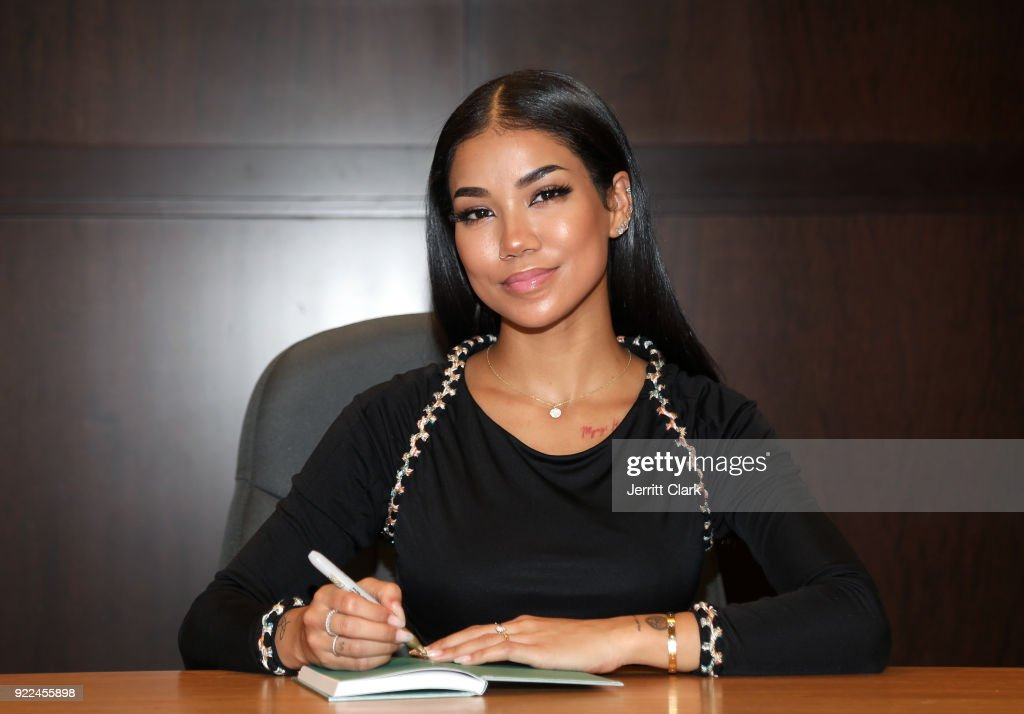 Jhene Aiko signs copies of her 2 Fish Poetry Book at a Book Signing at Barnes and Noble at The Grove on February 20, 2018 in Los Angeles, California.