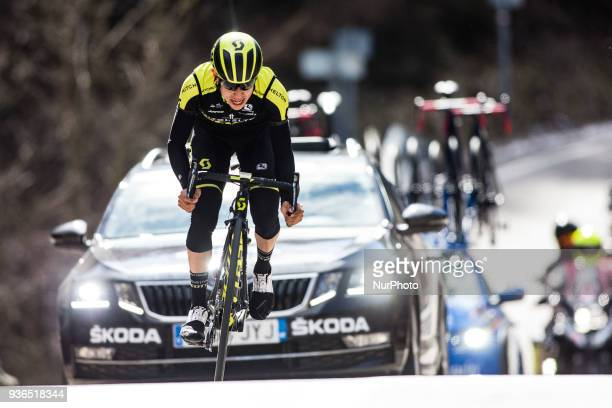 63 CHAVES Jhoan E of MITCHELTON SCOTT leading the stage during the 98th Volta Ciclista a Catalunya 2018 / Stage 4 Llanars La Molina of 170km during...