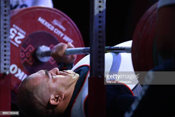 Jhon Castaneda of Colombia competes during the Men's Over to 107 Kg Group A Category as part of the World Para Powerlifting Championship Mexico 2016...