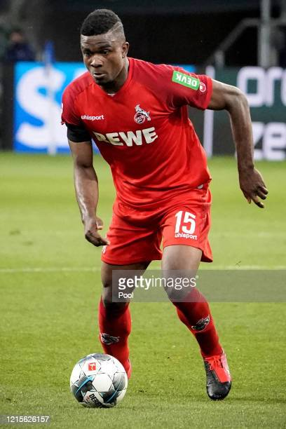 Jhon Cordoba of Cologne in action during the Bundesliga match between TSG 1899 Hoffenheim and 1 FC Koeln at PreZeroArena on May 27 2020 in Sinsheim...