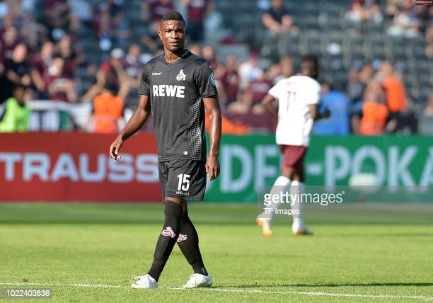 Jhon Cordoba of FC Koeln looks on during the DFB Cup first round match between BFC Dynamo and 1 FC Koeln at Olympiastadion on August 19 2018 in...