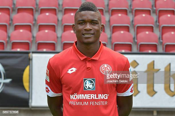 Jhon Cordoba poses during the official team presentation of 1 FSV Mainz 05 at Opel Arena on July 25 2016 in Mainz Germany