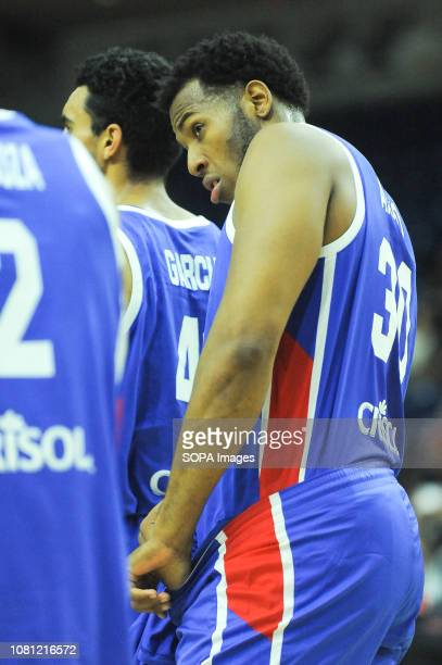 Jhonatan Araujo seen during the Canada national team vs Dominican Republic national team in the FIBA Basketball World Cup 2019 Qualifiers at Ricoh...