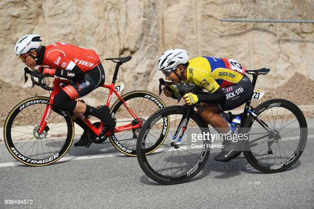 Jhonatan Manuel Narvaez Prado of Ecuador and Team Quick-Step Floors / Toms Skujins of Latvia and Team Trek-Segafredo / during the 98th Volta Ciclista...