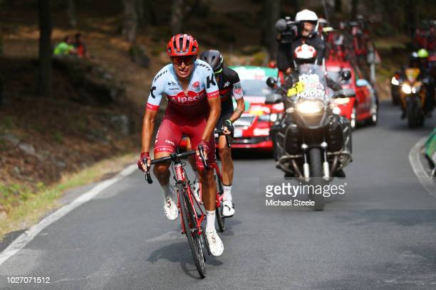 Jhonatan Restrepo of Colombia and Team Katusha Alpecin / Alessandro De Marchi of Italy and BMC Racing Team / during the 73rd Tour of Spain 2018 Stage...