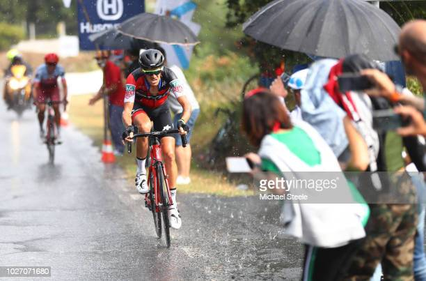 Jhonatan Restrepo of Colombia and Team Katusha Alpecin / Alessandro De Marchi of Italy and BMC Racing Team / Fans / Public / Rain / during the 73rd...