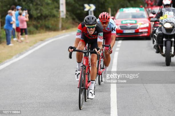 Jhonatan Restrepo of Colombia and Team Katusha Alpecin / Alessandro De Marchi of Italy and BMC Racing Team / during the 73rd Tour of Spain 2018,...