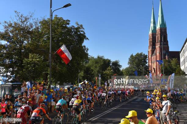 Jhonatan Restrepo of Colombia and Team Katusha Alpecin / Rybnik City / Basilica of St. Anthony of Padua / Peloton / Fans / Public / Landscape /...