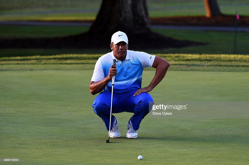 Jhonattan Vegas of Venezuela putts on the 17th green during the second round of the Frys.com Open on October 16, 2015 at the North Course of the Silverado Resort and Spa in Napa, California.