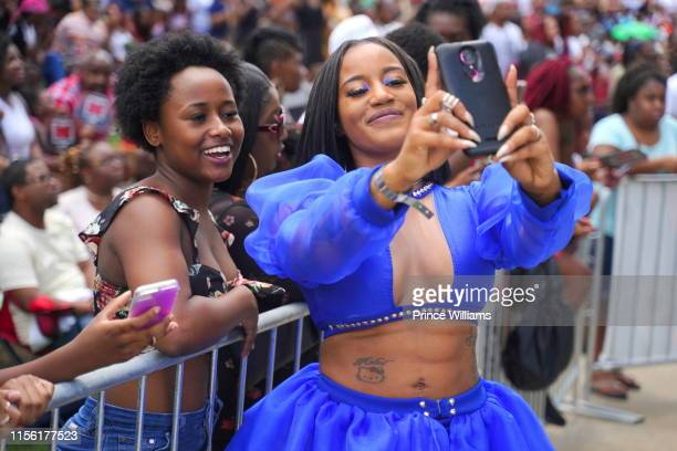 Jhonni Blaze attends at Hot 1079 Birthday Bash 2019 at Centennial Olympic Park on June 15 2019 in Atlanta Georgia