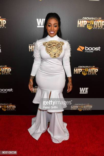 Jhonni Blaze attends 'Growing Up Hip Hop Atlanta' season 2 premiere party at Woodruff Arts Center on January 9 2018 in Atlanta Georgia