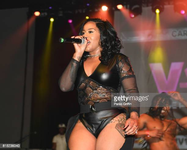 Jhonni Blaze performs at 2017 V103 Care Bike Show at Georgia World Congress Center on July 15 2017 in Atlanta Georgia