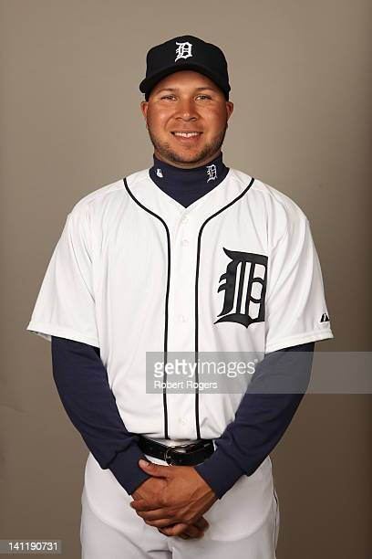 Jhonny Peralta of the Detroit Tigers poses during Photo Day on Tuesday February 28 2012 at Joker Marchant Stadium in Lakeland Florida
