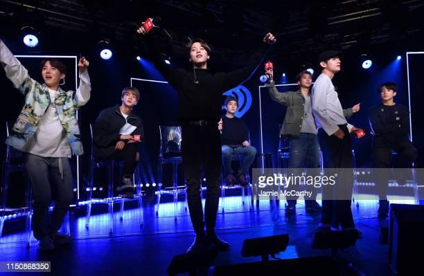 jhope jin jimin suga rm v jungkook of bts appear onstage for live picture