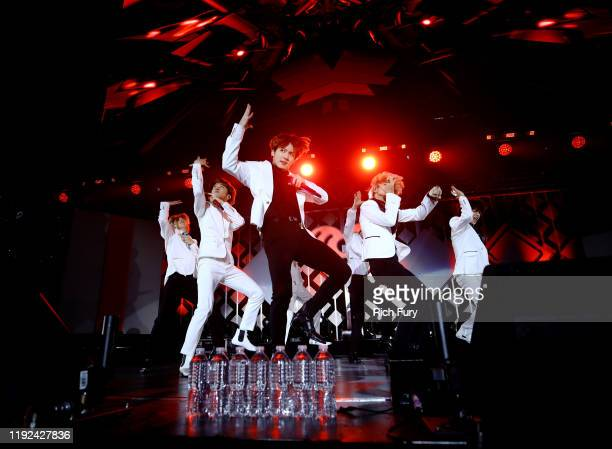 RM JHope Jungkook and Jimin of BTS perform onstage during 1027 KIIS FM's Jingle Ball 2019 Presented by Capital One at the Forum on December 6 2019 in...