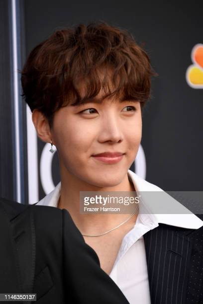 Hope of BTS attends the 2019 Billboard Music Awards at MGM Grand Garden Arena on May 01 2019 in Las Vegas Nevada