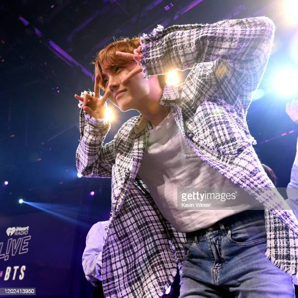 JHope of BTS onstage at iHeartRadio LIVE with BTS presented by HOT TOPIC at iHeartRadio Theater on January 27 2020 in Burbank California
