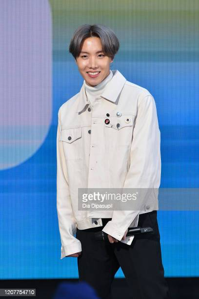 """Hope of the K-pop boy band BTS visits the """"Today"""" Show at Rockefeller Plaza on February 21, 2020 in New York City."""