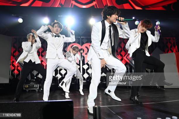 RM JHope Suga V and Jungkook of BTS perform onstage during 1027 KIIS FM's Jingle Ball 2019 Presented by Capital One at the Forum on December 6 2019...