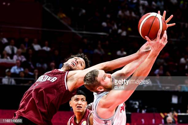 Jhornan ZAMORA of the Venezuela National Team gets a rebound against the Poland National Team during the 1st round of 2019 FIBA World Cup at on...