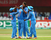 derby england jhulan goswami india celebrates
