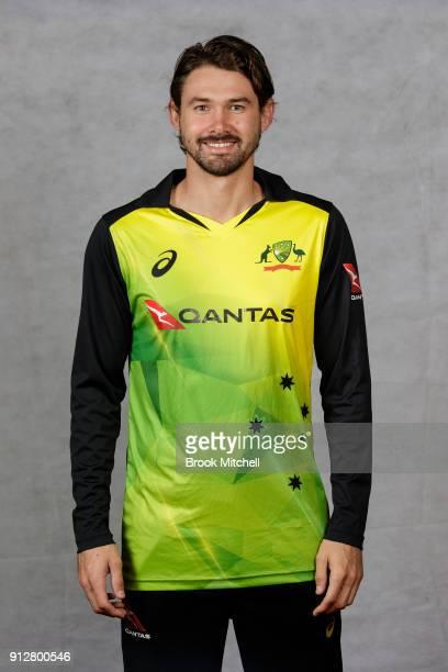 Jhye Richardson poses during the Australian International Twenty20 headshots session at Sydney Cricket Ground on February 1 2018 in Sydney Australia