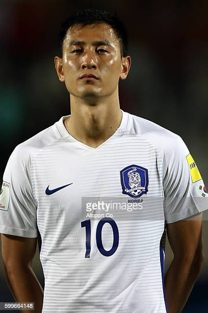 Ji Dong Won of South Korea during the 2018 FIFA World Cup Qualifier Final Round Group A match between Syria and South Korea at The Tuanku Abdul...