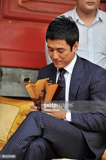 Ji Jin Hee Korean actor attends the opening of the 'Cartier Treasures' exhibition at the Forbidden City September 4 2009 in Beijing China