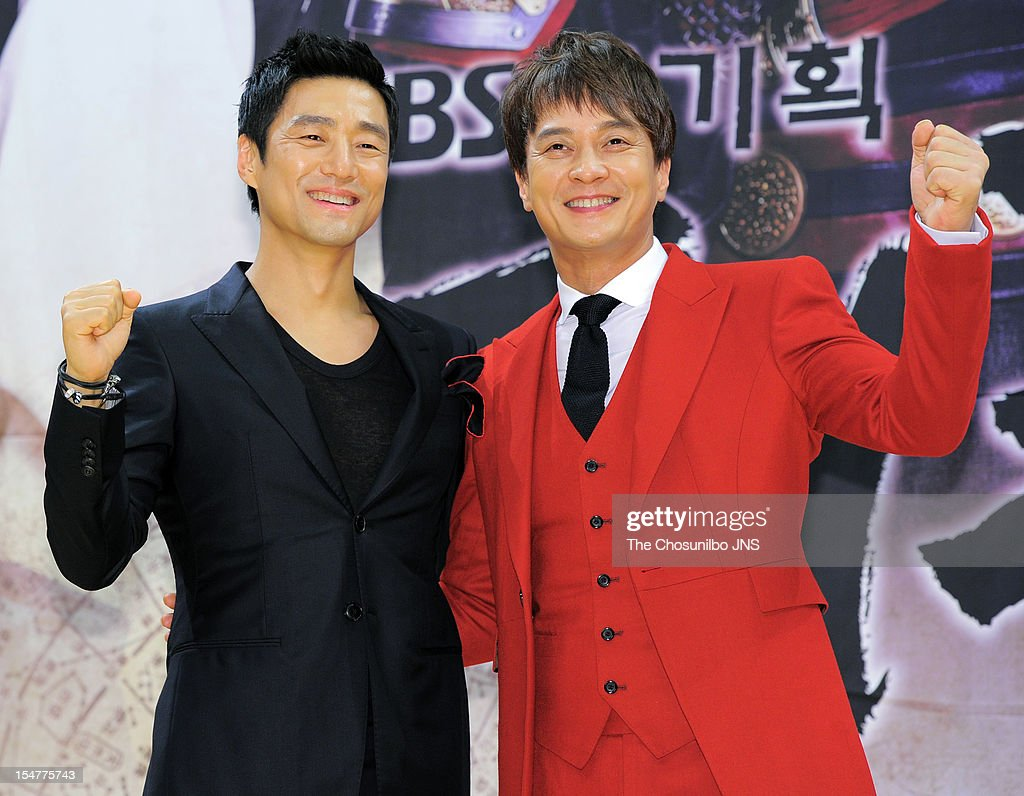 Ji Jin-Hee and Jo Min-Ki attend the SBS Drama 'The Great Seer' Press Conference at SBS Building on September 26, 2012 in Seoul, South Korea.